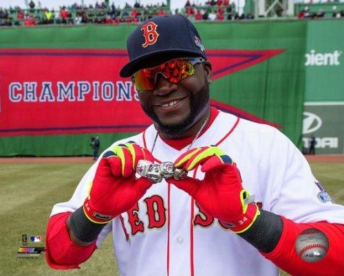 MLB David Ortiz Boston Red Sox Fenway Park 2014 World Series Ring Celebration Photo 8