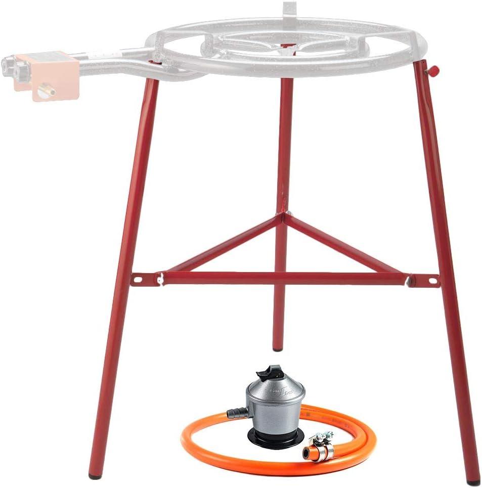 Kit Paellero Bricolemar Plus (Soporte Reforzado Garcima + Regulador y Manguera Kabra)