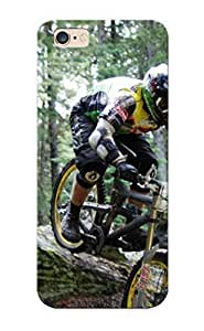 Ideal Case Cover For Iphone 6 Plus(mountain Bikes Racing Extreme People Bicycle Bike Forest Nature Trees Woods Track ), Protective Stylish Case