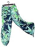 Hawaiian Floral Camouflage Harem Pants Blueberry Wedding Resort Beachwear S/M