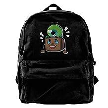 Tiny Box Tim And Septiceye Sam Jacksepticeye Canvas Backpack School Rucksack Travel Backpack Laptop Backpack Black