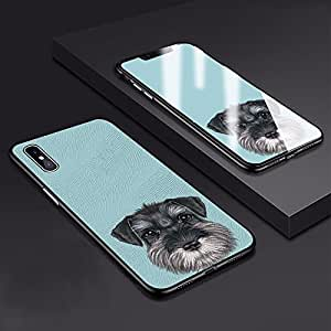 Akinada iPhone X Case Schnauzer Series Protective Case for iPhone 10 Cute Pet Dog Case - Mint Green