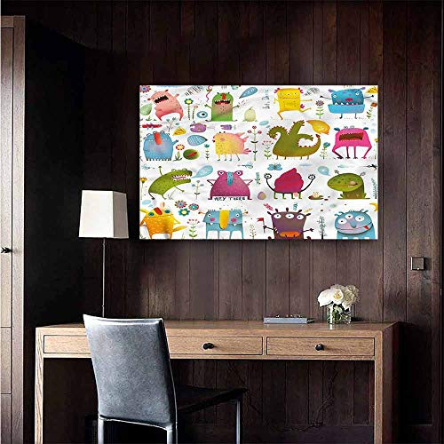 Stickers Wall Murals Decals Removable Funny Lets Dance Groovy Creatures Kitchen Room Wall Size : W28 x H20 - Lets Dance Mural