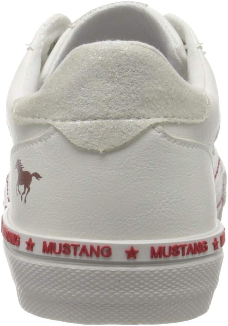 Mustang 1353-302-203, Sneakers Basses Femme Écru Ice 203
