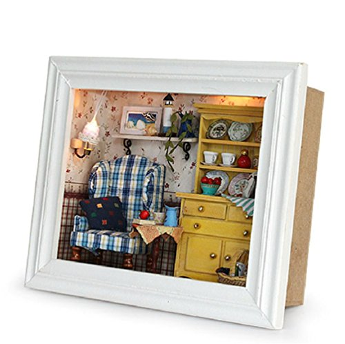 Flever Dollhouse Miniature DIY House Kit Creative Room With Furniture and Frame Type for Romantic Valentine's Gift(A Midsummer - Sunglasses How To Make