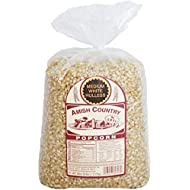 Amish Country Popcorn 6 Pound Bag Medium White Kernels with Recipe Guide, Old Fashioned, Non GMO, Gluten Free, Microwaveable, Stovetop and Air Popper Friendly - 1 Year Freshness Gaurantee