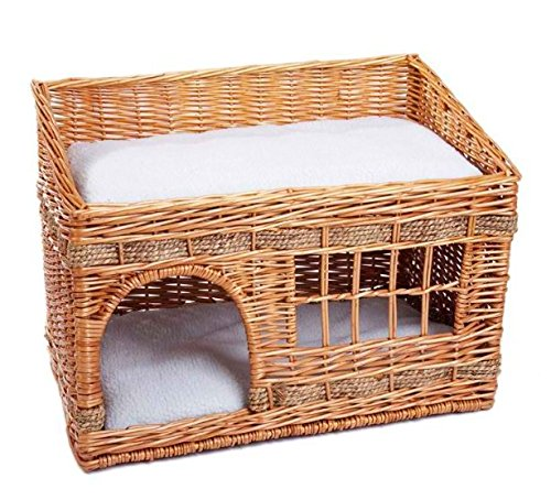 Intrecciata in in in vimini Cat den – Pueblo Style – this will look Fabulous in your home – a Cosy Nest for your gatti e11b1a