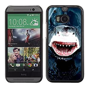 Graphic4You Shark Animal Design Hard Case Cover for HTC One (M8)