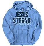 Jesus Christ Strong Philippian Christian Shirt Religious Gift Zipper Hoodie