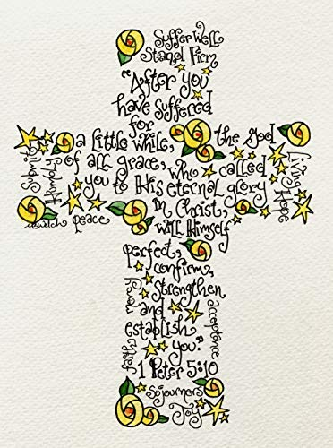 Suffering Cross 8x10 - Christian Get Well Soon or