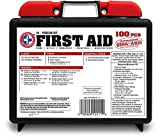 Be-Smart-Get-Prepared-100-Piece-First-Aid-Kit-Exceeds-OSHA-ANSI-Standards-for-10-People-Office-Home-Car-School-Emergency-Survival-Camping-Hunting-and-Sports