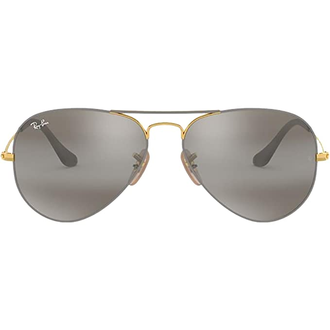 Amazon.com: Ray-Ban RB3025 Aviator Silver Frame / Crystal ...