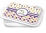 Girl's Space & Geometric Print Cake Pan (Personalized)