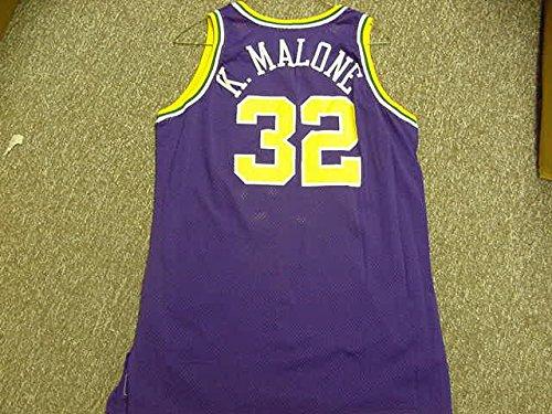 (Karl Malone Utah Jazz 1993-1994 Champion Purple Game Jersey)