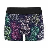 InterestPrint Boxer Briefs Men's Underwear Pineapple Pattern M