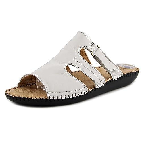 298365761504 Naturalizer Serene Women US 11 White Slides Sandal
