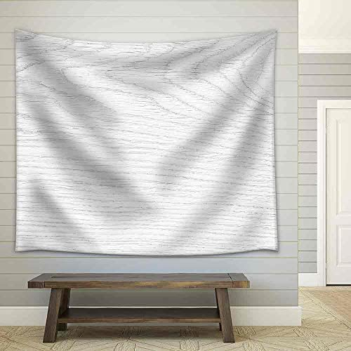 White Wood Texture Background Fabric Wall