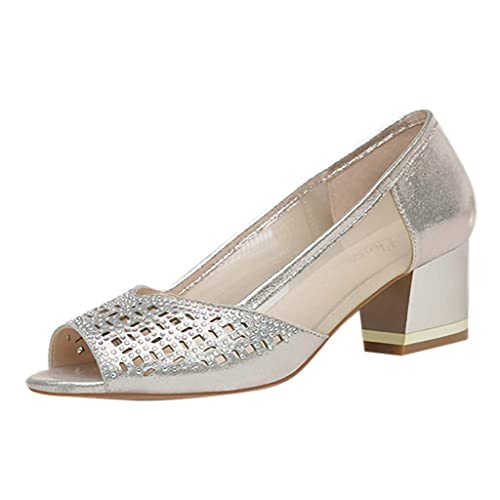 Internet_Mujer Sexy Atractiva Boca de pez Zapatos Romanos,Respirable Malla Sandalias de Calado Dulce,