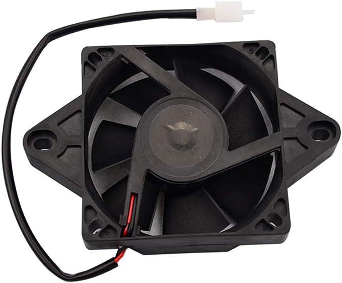 GOOFIT Ventilador Radiador 12V Moto Refrigerante Cuadrado DC para ...