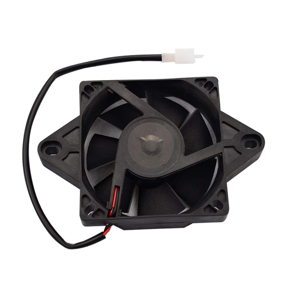 GOOFIT 12V DC Square Radiator Cooling Fan for Motorcycles