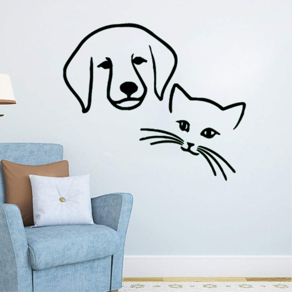 Qqasd DIY Perro Gato Amistad Mural Vinilo Animales Tienda de ...