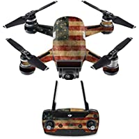Skin for DJI Spark Mini Drone Combo - Vintage Flag| MightySkins Protective, Durable, and Unique Vinyl Decal wrap cover | Easy To Apply, Remove, and Change Styles | Made in the USA