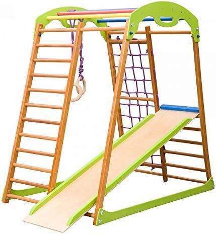 Madera campo de juego infantil, Centro de actividades, escalera sueco BW. Envío gratis: Amazon.es: Bebé