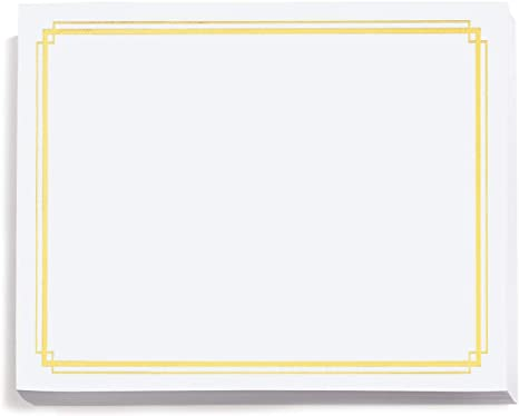 8.5 x 11 50 Count Red Foil on White Simple Border Certificates