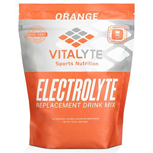 Vitalyte Electrolyte Powder Sports Drink Mix, 80 Servings Per Container, Natural Electrolyte Replacement Supplement for Rapid Hydration & Energy - Orange (Isotonic Drink Mix)