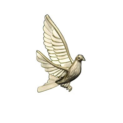 aimaoer Simple Peace Dove Corsage Traje De Cuello Broche ...