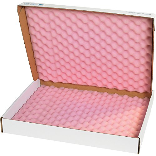 Boxes Fast BFFSA22182 Anti-Static Foam Shippers, Load Capacity, 22'' Length, 18'' width, 2.75'' Thick,, Pink/White (Pack of 12) by Boxes Fast