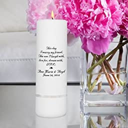 Personalized Unity Candle - Personalized Wedding Candle - Wedding Gift - Monogrammed Wedding Unity Candle