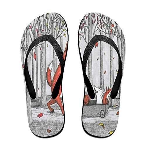 Ladninag Flip Flops Family Enjoy The Fall Leaves Women's Indoor Slippers Thong Sandals for Teen