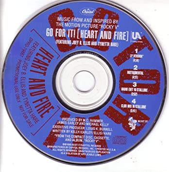 Go for It (Heart and Fire) Rocky V Theme Song (Cd Single w