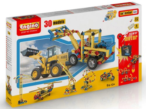 Engino  - 30 Model Construction Set with Motor Construction Kit