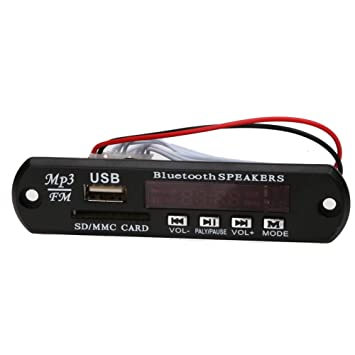 Módulo de reproductor de audio Bluetooth USB SD TF FM MP3 WMA Decodificador Junta Altavoz de control remoto: Amazon.es: Coche y moto
