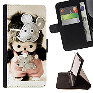 For LG OPTIMUS L90 - Cute Toy Mice /Funda de piel cubierta de la carpeta Foilo con cierre magn???¡¯????tico/ - Super Marley Shop -