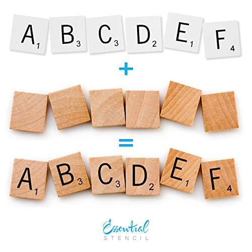 SCRABBLE LETTERS STENCIL SET | Perfect for Painting On Wood, DIY Modern Home Decor Calligraphy Signs, Rustic Decor for Farmhouse, Fixer Upper, Joanna Gaines, Magnolia Style