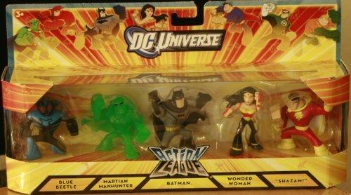 DC Universe Action League Exclusive Mini Figure 5Pack Boxed Set Batman, Wonder Woman, Shazam, Martian Manhunter Blue Beetle