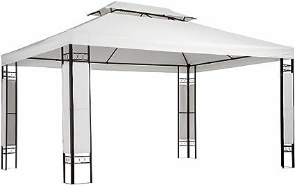 Miadomodo - Carpa para jardín y terraza Blanco de 3 x 4m: Amazon ...