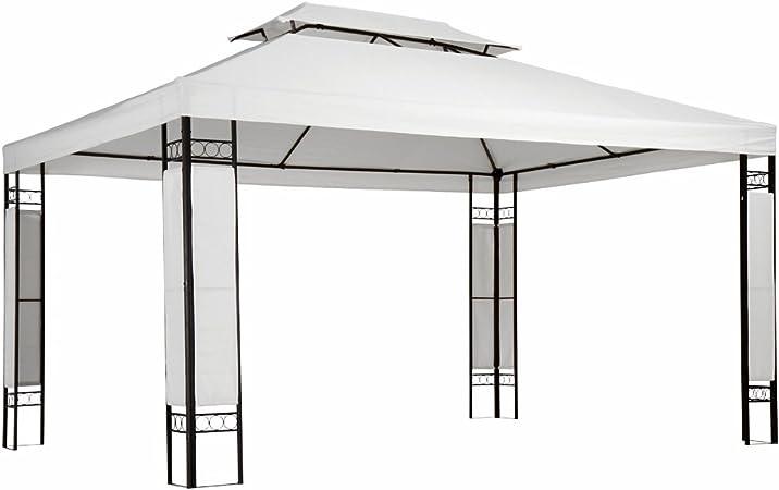 Miadomodo - Carpa para jardín y terraza Blanco de 3 x 4m: Amazon.es: Jardín