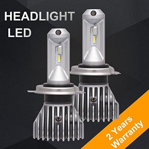 Finnkarelia H4(9003 Hi/Lo) Car LED Headlight Bulbs Conversion Kit, New Pattern No Fan All in One Aluminum Waterproof High Brightness 50W 8000LM 6000K Cool White - 2 Yr Warranty (2 Pack)