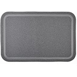Be Good Pet Food Mat Waterproof Non Slip Feeding Mat Food Safe Dog Bowl Placemat for Food Water Treats Extra Large Tidy and Dust Free Kitty Cat Litter Mat with Soft Paw Design Grey