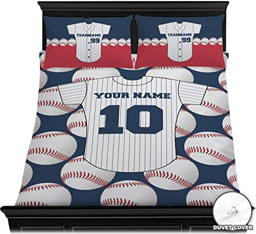 RNK Shops Baseball Jersey Duvet Cover Set - Full/Queen (Personalized)