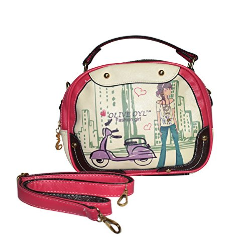 53751f43a531 Rahseh fashion PU sling bag Hand bag with stylish print design  Amazon.in   Clothing   Accessories