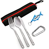 Camping Cutlery Utensil Travel Set - 5 Piece Camping...