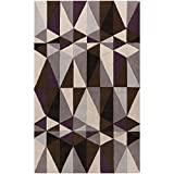 Surya Cosmopolitan COS-9171 Transitional Hand Tufted 100% Polyester Antique White 5' x 8' Geometric Area Rug