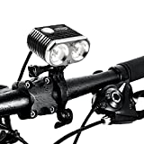 ITUO Led Bike Headlight, Super Bright 1500 Lumens Bike Front Light with Battery Pack and Remote Control,Wiz-XP2 (Updated Version)