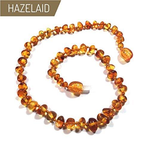 "Hazelaid (TM) 12"" Twist-Clasp Baltic Amber Honey Necklace"
