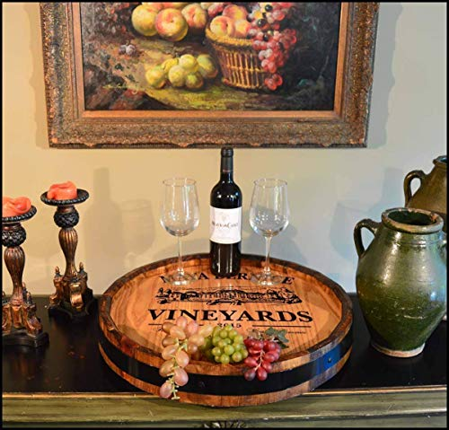 'Maya Vineyards' Personalized Quarter Barrel Lazy Susan (B465) -
